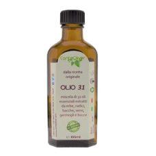 Olio 31 kräuteröl – miscela di 31 oli essenziali estratti da erbe, radici, bacche ed ulteriori parti di piante officinali – 100 ml