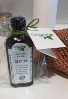 Olio 31 kräuteröl – miscela di 31 oli essenziali estratti da erbe, radici, bacche ed ulteriori parti di piante officinali – 50 e 100 ml